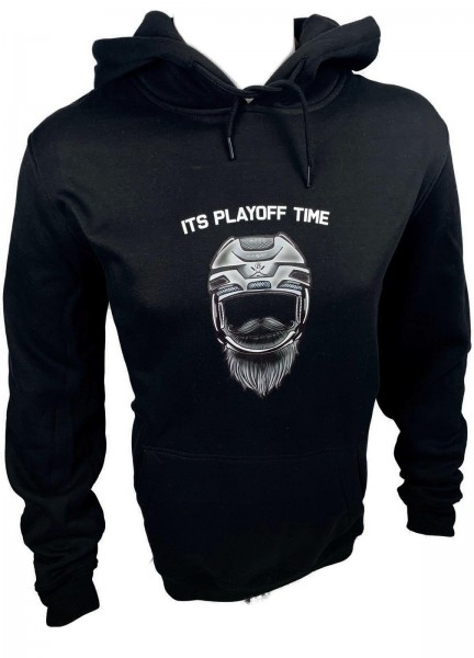 "Hoodie schwarz, ""It's playoff time"""