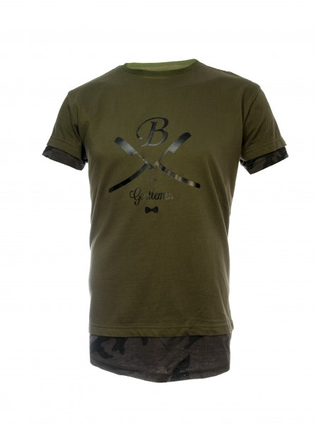 T-Shirt oliv camo, Gentlemen