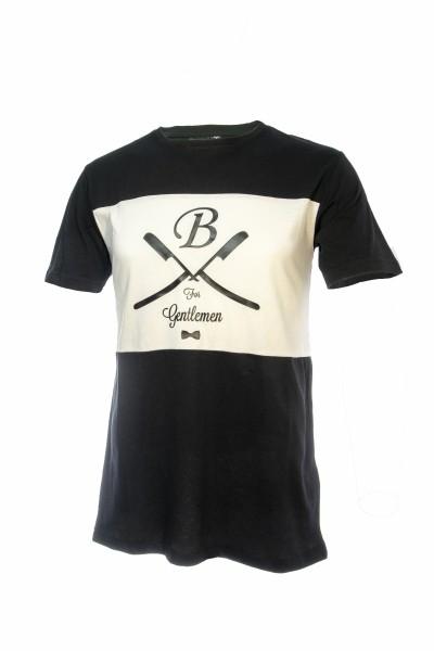 T-Shirt schwarz-weiß, Gentlemen