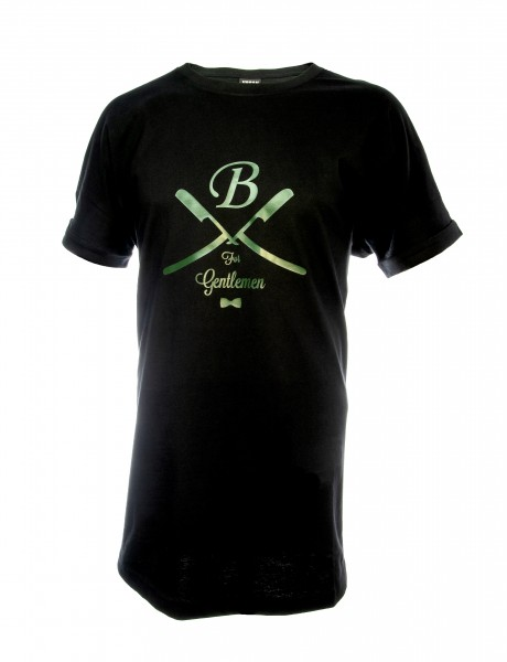 T-Shirt lang schwarz, Gentlemen